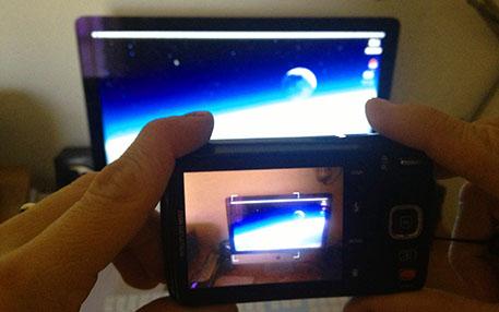 fotografare schermo computer